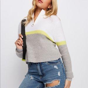 Half Zip Sweater   Charlotte Russe